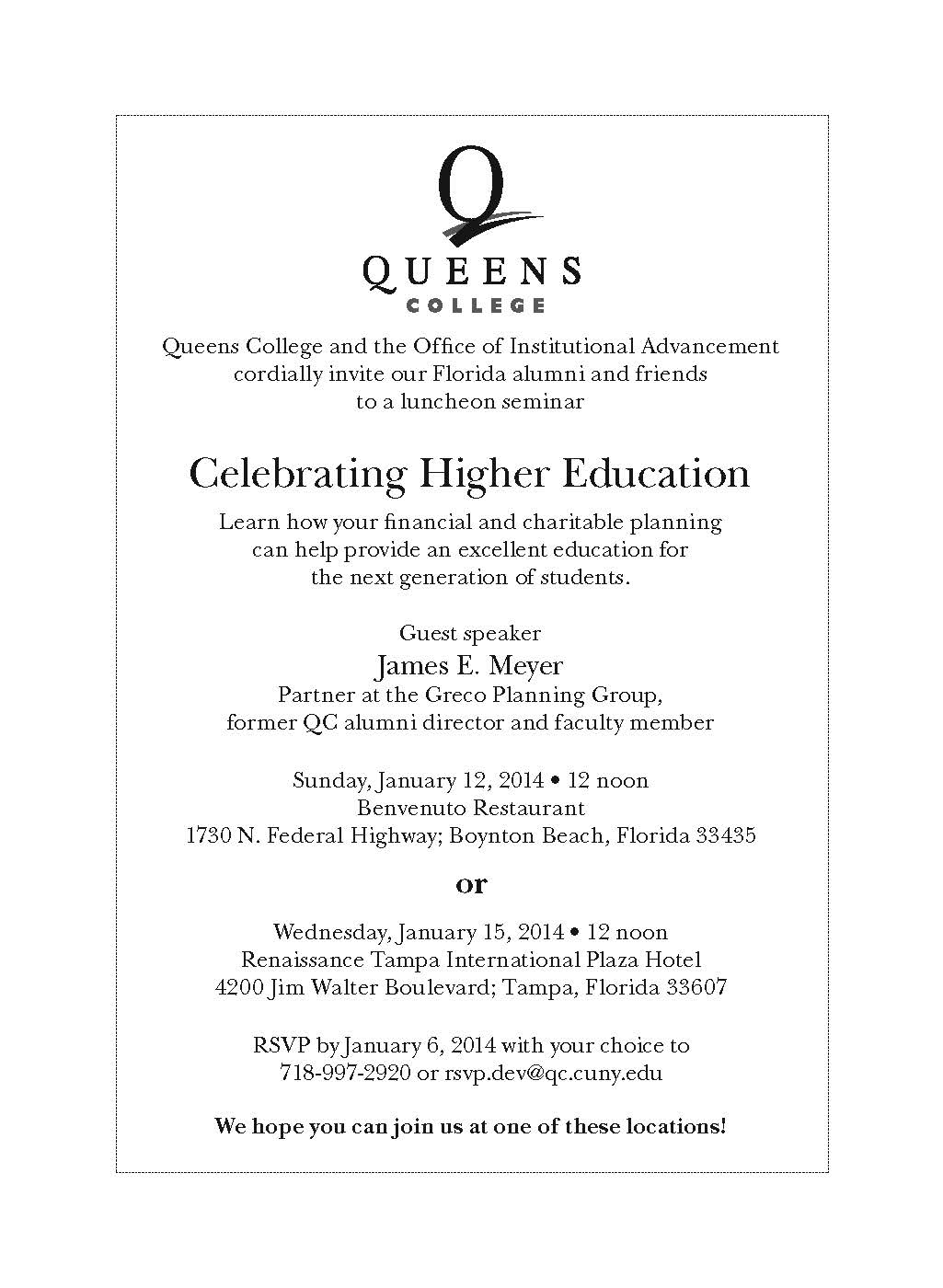 Queens College Foundation Events Queens College CUNY